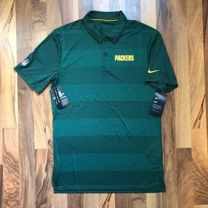 Nike Dri Fit Polo Green Bay Packers size Small